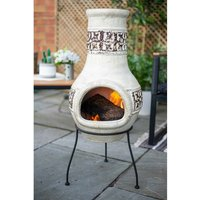 Clay Chiminea With Stand And Lid