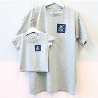 Like Dad. Like Son. T Shirt Set, Grey/White/Black