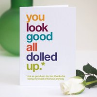 Funny Maid Of Honour Thank You Card