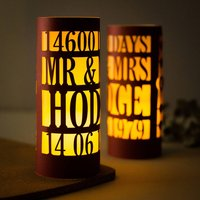 40th Anniversary Ruby Wedding Luminary Centrepiece