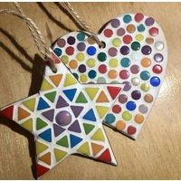 Mosaic Hanging Star And Heart Craft Kit
