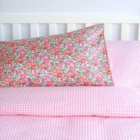 Liberty And Gingham Bed Linen