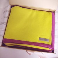 Personalised Yellow Pure Cashmere Travel Wrap Scarf
