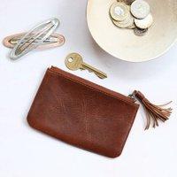 Small Leather Tassel Purse