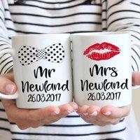 Mr And Mrs Personalised Wedding Mugs