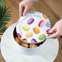 Colourful Macarons Personalised Cake Tin