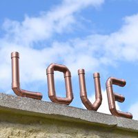 Copper 'Love' Letters