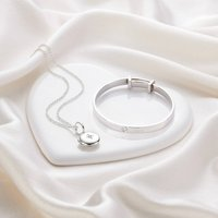 Personalised Sterling Silver Forever Diamond Gift Set, Silver