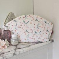 Vanity Toiletries Case Large Make Up Bag Bird Print