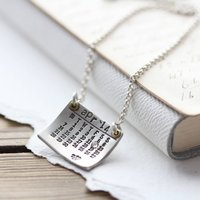 Personalised Silver Calendar Necklace, Silver