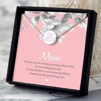 Personalised Mothers Necklace And Card
