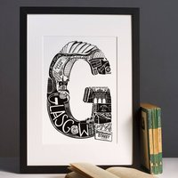 Best Of Glasgow Print Graduation Gift