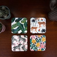 Tropical Coasters Pack Of Four