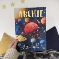 Personalised Sleep Tight Space Name Print