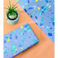 Grey Terrazzo Wrapping Paper Set