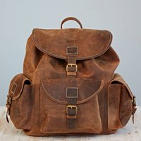 Personalised Buffalo Leather Backpack