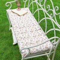 Cottage Rose Padded Garden Bench Cushion