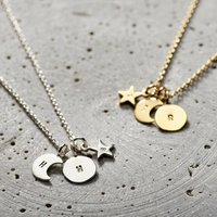 Personalised Sun Moon And Star Necklace