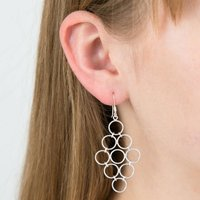Circles Silver Earrings, Silver