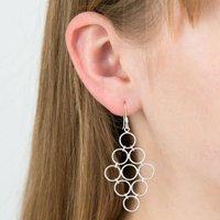 Circles Silver Earrings, Silver