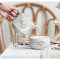 Personalised Teapot And Cup Set For Mum