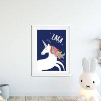 Personalised Rainbow Unicorn Print
