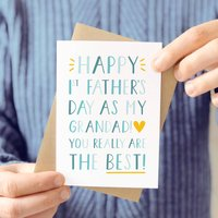 First Father's Day As A Grandad Card