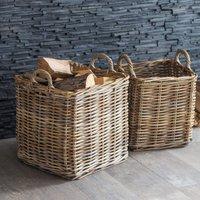 Square Rattan Log Basket