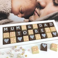 Mum And Dad To Be Personalised Chocolate Gift