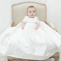 Boys Silk Christening Gown Harry, Ivory/White