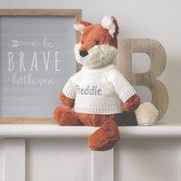 Personalised Orange Bashful Fox Soft Toy