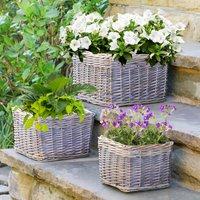 Set Of Three Vintage Garden Tub Planters