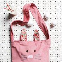Kids Bunny Bag And Ears Set, Pink/Camel/Blue