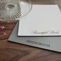Wedding Anniversary Gift Personalised Leather Placemats