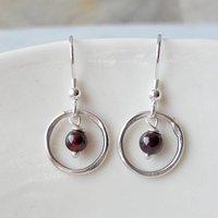 Garnet Ring Earrings