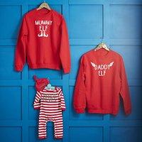 Daddy Elf, Mummy Elf, Raised By Elves Family Jumper Set