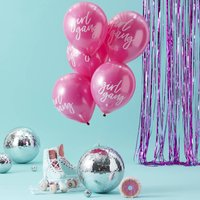 Pink Girl Gang Printed Party Balloons 10 Pack