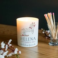 Personalised Star Sign Glass Candle