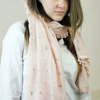 Personalised Gold Pineapple Print Fashion Scarf