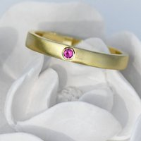 Ruby Wedding Ring In 18ct Gold, Fair Trade, Gold