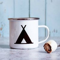 Personalised Enamel Mug For Camping Lover