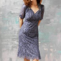 Lace Dress With Sweetheart Neckline In Amethyst Lace
