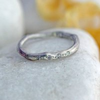 Silver And Diamond Eternity Ring, Silver