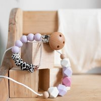 Teething Necklace And Dummy Clip Baby Gift Set