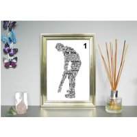 Cricketer Personalised Print. Two Variations