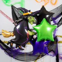 Wicked Witch Star Halloween Inflated Foil Bunch