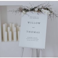 Willow Welcome Sign