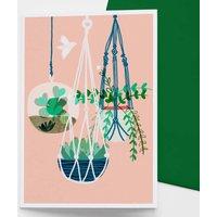 Hanging Gardens Cactus Greetings Card