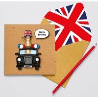Handmade London Taxi Meerkat Birthday Card