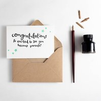 Excited To See You Become Parents Letterpress Card